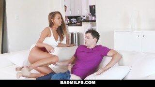 BadMilfs – Busty Milf Teaches Stepson How To Fuck