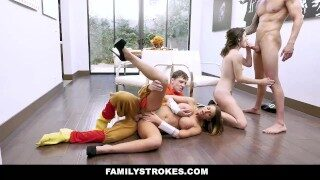 FamilyStrokes – Horny Step  Each Other For Thanksgiving
